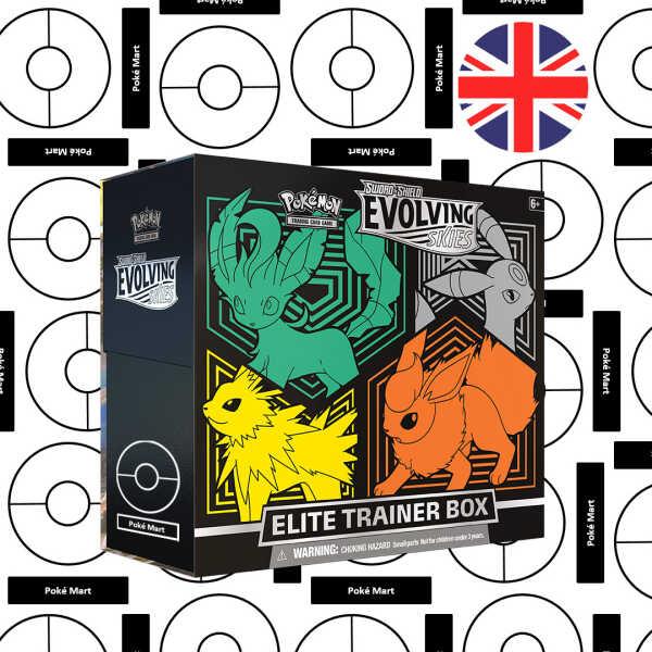 Evolving Skies ETB elite trainer box Leafeon umbreon Jolteon Flareon pokemart.be