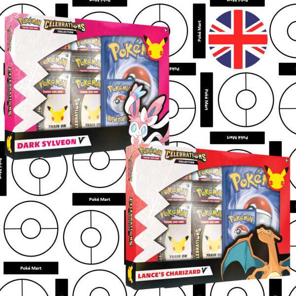Pokémon 25th Anniversary Celebrations Lance's Charizard V & Dark Sylveon Collection set Pokemart.be