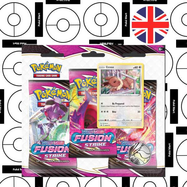 pokemon Fusion Strike 3 booster blister eevee pokemart.be